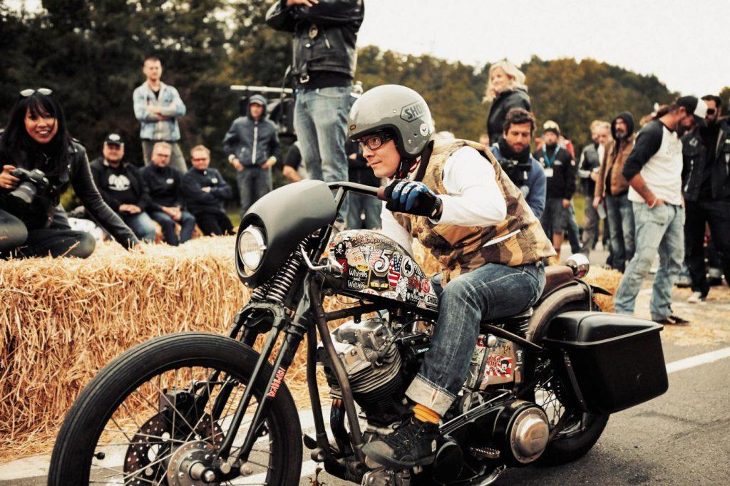 Casque moto jet style retro