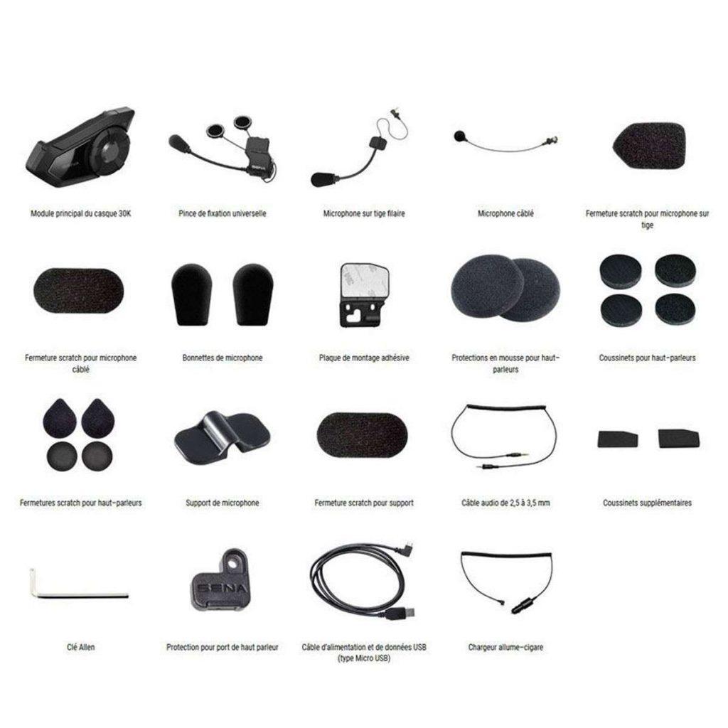 Kit communication moto Sena 30K
