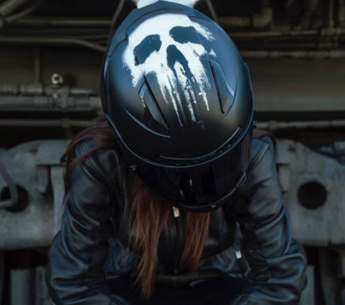 HJC Punisher : Les Casque De Moto Marvel HJC